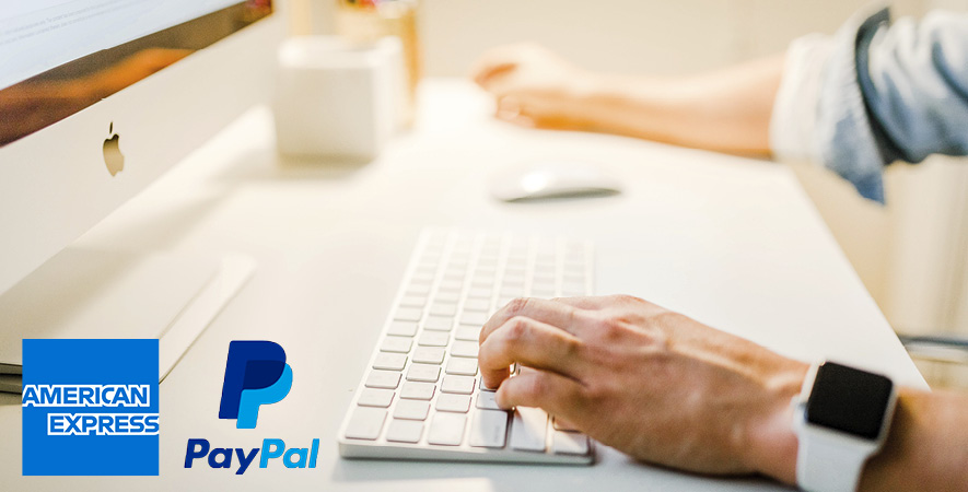 Payment with American Express and Paypal now available
