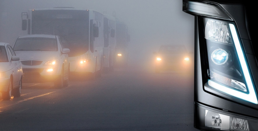 Poor visibility leads to more accidents